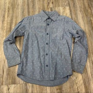 Children's Place Chambray Arrow Print Button Up